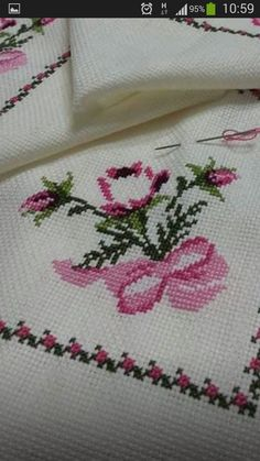 This Pin was discovered by Ayş Cross Stitch Art, Cross Stitch Designs, Cross Stitch Embroidery, Hand Embroidery, Cross Stitch Patterns, Embroidery Designs, Hobbies And Crafts, Diy And Crafts, Kids Dress Wear