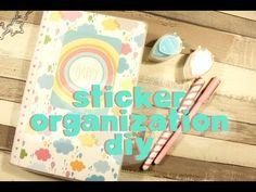 DIY Cheap and Easy Sticker Organization - Pimp my Planner ♥ - YouTube