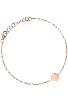 armband 14k rose gold disc charm