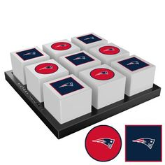 """Victory Tailgate The classic game of tic-tac-toe is back, and with our official licensing it's better than ever! The game measurement makes it perfect for travel time or downtime. Wherever you go, it's game time! Features: UV printed, officially licensed designs, portable size can be taken and played anywhere. NFL Team: New England Patriots   Victory Tailgate kids Carolina Panthers NFL Tic-Tac-Toe Game NFL Team: New England Patriots, Size 2""""H X 9""""W X 9""""D   Wayfair Tabletop Board Games, Table Games, Patriots Game, Tic Tac Toe Game, Carolina Panthers, New England Patriots, Victorious, Nfl, Size 2"""