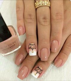 trend nail design inspiration picture - Page 47 of 109 10 Orange Nail Designs, Nail Art Designs, Design Art, Stylish Nails, Trendy Nails, Modern Nails, Short Nails Art, Cute Acrylic Nails, Nude Nails