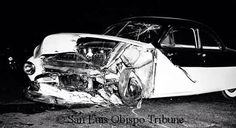 A car driven by Donald Turnupseed of Tulare, Calif, a 23-year-old Cal Poly student, turned left in front of Dean's light aluminum Porche Spyder and the two automobiles crashed head on. Dean died instantly. His body was battered and there were numerous broken bones and cuts. The low slung little Porche skidded more than 100 feet from the point of impact before it stopped.