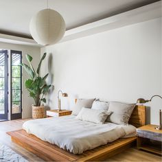 PCHseries Headboard Bed and Nightstands made in solid teak. As seen in @remodelista