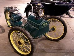 How's this for odd? This is supposedly the only known three-wheeled version of the Ner-a-Car motorcycle in existence.