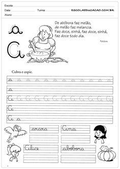 Atividade de caligrafia letra A