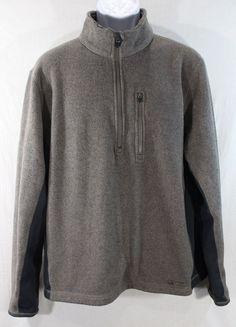 NIKE ACG THERMA FIT Fleece Full Zip Sweater Jacket Mens Large Beige Gray Rare #Nike #FleeceJacket