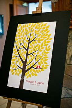Autumn wedding - this sparked so many spinoff ideas for me! (2 fish in a sea, green tree for spring, etc)
