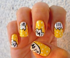 Nai7 Art: Comic Book Nails nails