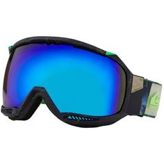 Quiksilver Men's Hubble Multi M BSG Snowboard and Skiing Goggles Blue ($130) ❤ liked on Polyvore featuring men's fashion