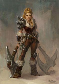 Nordic warrior woman