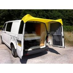 Barn door awning for VW T5 (yellow) - Awnings - Accessories - Shop