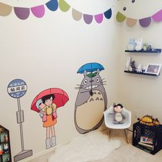Totoro kids bedroom #studioghibli #totoro #kidsroom