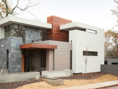 Great Image of Modern House Materials Exterior. Modern House Materials Exterior Exterior Small Modern Home Exterior Design Side Facade View Idea Modern House Facades, Modern Architecture House, Architecture Design, Architecture People, Chinese Architecture, Futuristic Architecture, Minimalist House Design, Minimalist Home, Modern House Design