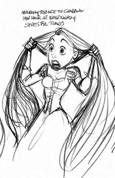Tangled - Rapunzel notes - Glen Keane - I love little notes like that (: Character Design Animation, Character Design References, Character Drawing, Character Concept, Character Sketches, Tangled 2010, Disney Tangled, Disney Art, Tangled Rapunzel