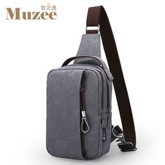 Great Value $18.70, Buy Muzee 2017 Summer High Capacity Chest Bag For Men&Female Canvas Sling Bag Casual Crossbody Bag For Short Trip