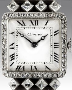 Lady's Cartier Art Deco diamond wristwatch ,1920's................