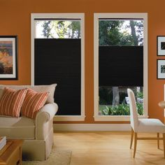 "Blinds.com Brand 3/8"" Double Cell Blackout Shades in Night Sky. These window shades will give you complete light control and will save on energy costs by bringing added insulation to your windows."