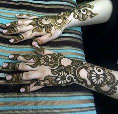 Henna design from the Arabian Gulf. #khaleeji