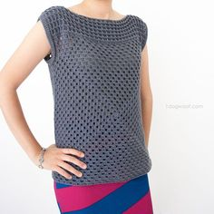 Granny squares aren't just for blankets! This easy crochet top is so simple and so stylish!