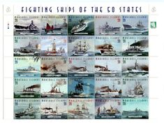 Stamp: Fighting Ships of the 50 States (Marshall Islands) (Ships) Mi:MH 649 Marshall Islands, 50 States, Photo Wall, Ships, Postage Stamps, Boats, Ship, Stamps, Photograph