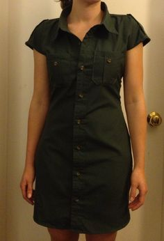Cute dress from men's dress shirt- looks pretty easy!