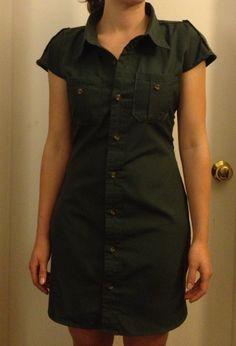 Cute dress from men's dress shirt- looks pretty easy!