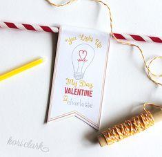 Light Up Valentine - printable glow stick valentine - illustration