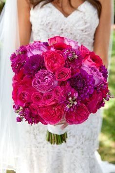 purple, raspberry would add pops of orange hand tied loose style bouquet