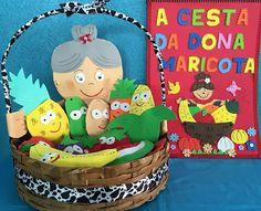 Profª: Ivani Ferreira: Plano de aula: A Cesta da Dona Maricota - Projeto ... Preschool Activities, Kindergarten, Crafts For Kids, Projects, Professor, Montessori, Bb, Birthday Cake, Desserts