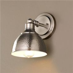 Hammered Metal Sconce m.bath linen wall 100w $69