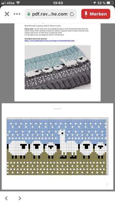 Fair Isle Knitting Patterns, Knitting Charts, Easy Knitting, Knitting For Beginners, Knitting Stitches, Knit Patterns, Cross Stitch Patterns, Cross Stitches, Cross Stitch Animals