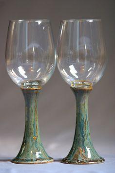 Ceramic Wine Goblet Stoneware Wine goblet pottery by Avanturine ...