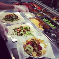 Zapatitsa burrito bar. Can't choose between a burrito and nachos? Have both!