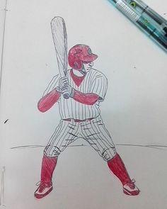 #illustration #ilustração #sketch #sketchbook #draw #drawing #desenho #baseball