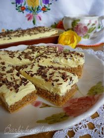 Barbi konyhája: Cseh krémes Ital Food, Hungarian Recipes, Hungarian Food, I Want To Eat, Dessert Recipes, Desserts, Cake Cookies, Cheesecake, Food And Drink