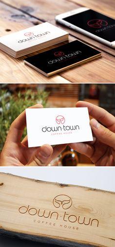 Diseño de logotipo para DownTown, una cafetería ubicada en la localidad argentina de Puerto Madryn, una de las localidades de la Patagonia más visitadas por turistas de todo el mundo debido a las propuestas naturales que ofrece: buceo, avistamiento de ballenas, pingüinos, lobos marinos, etc...