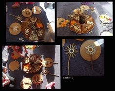 "Transient art with natural resources from Rachel ("",) Motor Skills Activities, Fine Motor Skills, Early Years Classroom, Natural Resources, Eyfs, Reggio, Eco Friendly, Thats Not My, Preschool"