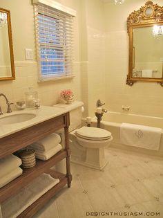 creamy bath renovation, bathroom ideas, home improvement