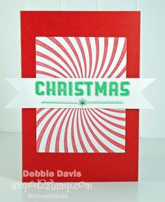 Debbie Davis Amped2Stamp Peppermint Swirl Christmas. Amuse Studio
