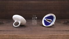 """ring #7 - NOT AVAILABLE  """"DOI"""" / """"TWO"""" porcelain jewelry f/w '12-'13 collection"""