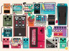 Pedalboard of Doom art print by Eric Nyffeler