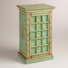 Our eclectic wood cabinet is hand carved and hand painted with traditional folk patterns passed down from old Rajput paintings that evolved and flourished in Hand Carved, Carved Wood, Hand Painted, Cool Furniture, Painted Furniture, Furniture Ideas, True Homes, Living On The Edge, Affordable Home Decor
