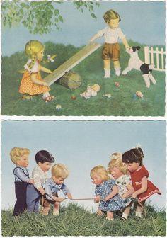 2 x AK KÄTHE KRUSE 1958/61 Puppe Puppen       ( 36951