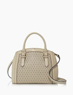 Kate Spade New York Mercer Isle Sloan Perforated Leather Satchel