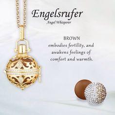 Brown embodies fertility and awakens feelings of comfort and warmth.  #Whisperer #Soundball #Brown #Gold - Shop now for engelsrufer_uk_ireland > http://ift.tt/1Ja6lvu