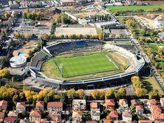 Estadio Mario Rigamonti de Brescia. Propiedad de la ciudad y capacitado para 17.000 personas es la casa del Brescia Calcio, y esta abierto desde 1959.