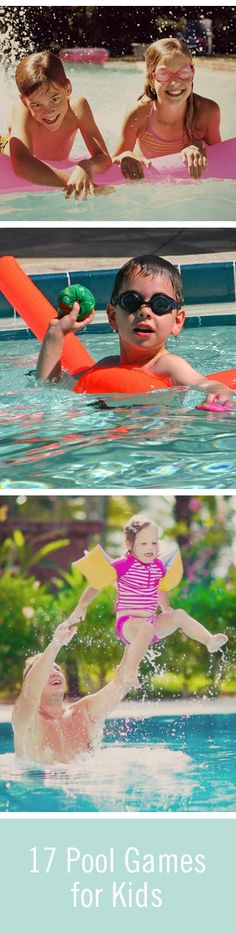 With games for teens, kids, and a big group, swimming in the pool is fun for everyone in the family! Check out these kids pool games to add some fun to your summer activities.