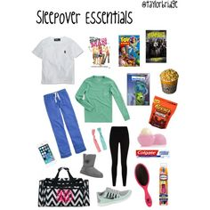Sleepover Essentials- becuase everyone wears uggs and running shoes at a sleep over- increased specialization of objects for every occasion