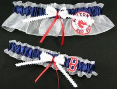 Boston Red Sox Garter Set by sewuniquegarters on Etsy
