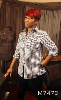 Faye's Sewing Adventure  MzChoize of Mochastyleblog & Instagram more than just a classic buttondown with McCall's 7470